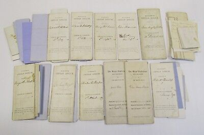 19th CENTURY WOLVERHAMPTON ORPHAN ASYLUM ADMISSION PAPERS ANTIQUE PENN ORPHANAGE