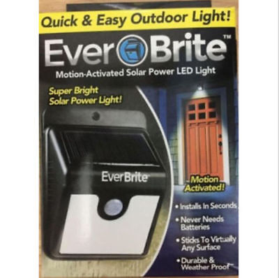 Ever Brite Motion-Activated Solar Power LED Light Outdoor As Seen on TV