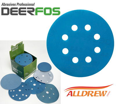 125mm Wet and Dry Sanding Discs 5'' Sandpaper 8 Hole Film Pads // 40 - 3000 GRIT