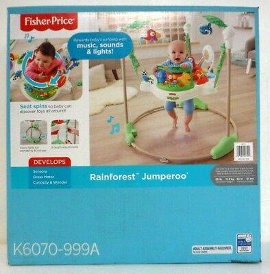Fisher-Price Rainforest Jumperoo K6070-999A Music Sounds Lights ROUGH BOX 7400 *