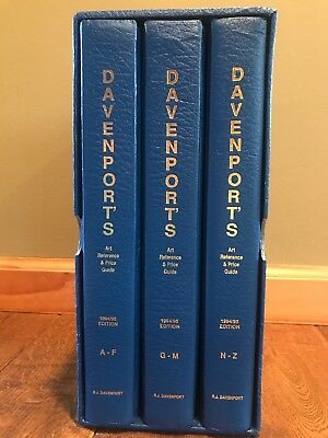 Davenport's Art Reference & Price Guide, 1994-1995 - 3 Volume Boxed Set