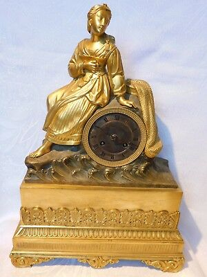 Fireplace Clock - Pendule Bronze Fire-Gilded France around 1840