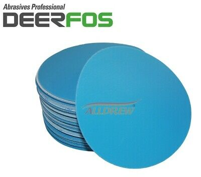 125mm Wet and Dry Sanding Discs 5'' Sandpaper Plain Film DA Pads  40 - 3000 GRIT