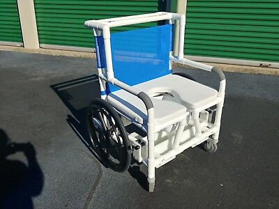 NEW Wheeled Wide Bariatric Shower Chair 600# Capacity MJM International $575 Off