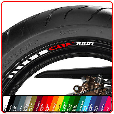 CBF 1000 wheel rim stickers decals - choice of 20 colours - abs