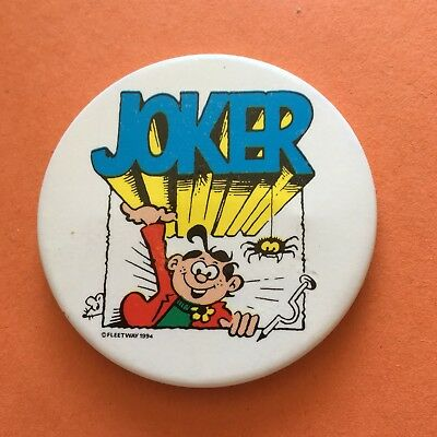 Whizzer & Chips Comic Character Joker Pin Badge (see pics)