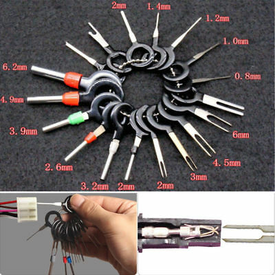 18Pcs Terminal Remove Tool Kit Pin Car Electrical Wire Crimp Connector Extractor