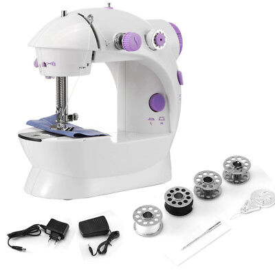 Electric Sewing Machine Kit Adjustable 2-Speed with Foot Pedal/Light/Cutter