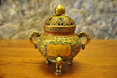 Cloisonne. Very rare Ancient Chinese incense burner. 19th century.