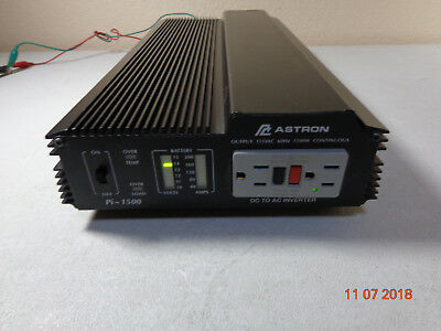 Astron Pi-1500 DC to AC inverter 1500 Watts 60hz with LED light, WORKS PERFECT..