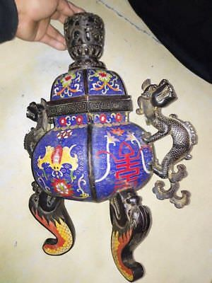 Chinese incense burner. Ancient very rare. 19th century. huge 50 cm
