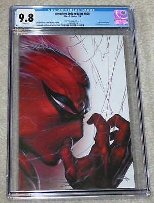 Amazing Spider-Man 800 Cgc 9.8 Dell Otto Wrap White Virgin Variant C 1000 Pt Run