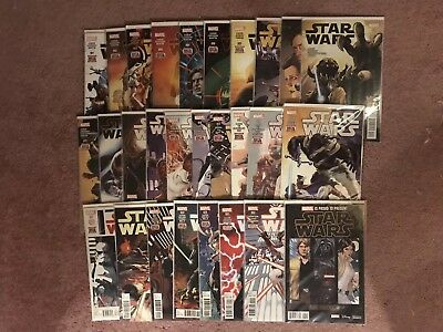 MARVEL Star Wars 2015 1-25 Annual 1&2 Preview 2015 28 Comic Lot SEALED