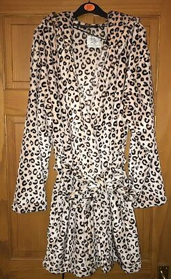 Love To Lounge   Primark Leopard Animal Print Dressing Gown Size Medium 10  12 x 1d1ed2e8d