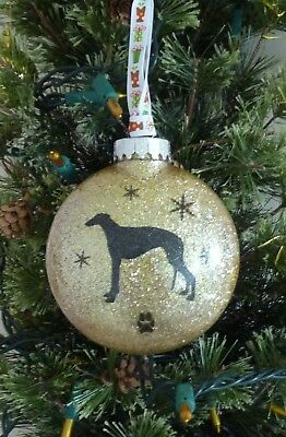 Greyhound Christmas Ornament, Holiday Tree Decoration, Dog Lover Gift, Memorial