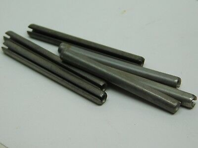 """25 PACK! 420 Stainless Steel Slotted Roll Spring Pin 3/16"""" x 1-7/8"""" Length NH"""
