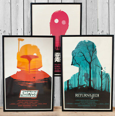 STAR WARS POSTERS - A3 A4 size Quality Movie Prints vintage Olly Moss Design