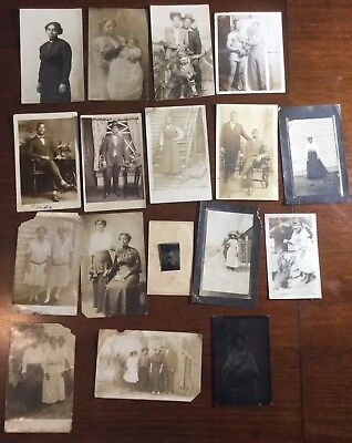 African American Tintype Jewelry Fashion Plus Antique African American Photo Lot