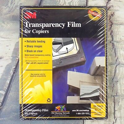 "Transparency Film For Copiers 3M PP2500  8 1/2"" x 11"" 100 Sheets"