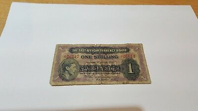 The East African Currency Board One Shilling note January 1943