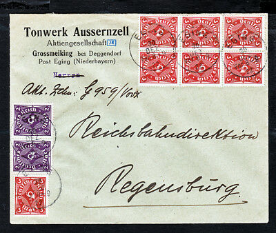 Germany Bavaria 1922 Inflation Advertising Cover ...#496VL