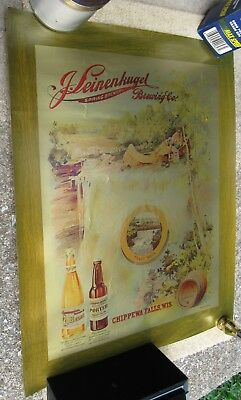 J Leinenkugel Brewery Reproduction Beer Poster / Sign Chippewa Falls Wis Unused