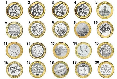 Hard to find Various Rare £2 Two Pound Coins circulated All Years in stock