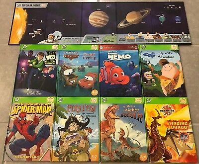 Lot 9 Leap Frog Tag Reader BOYS Interactive Hardcover Books DISNEY SOLAR SYSTEM