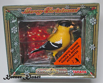 Bird Songs in Motion Goldfinch Ornament - Motion & Touch Activated Sound - NIP