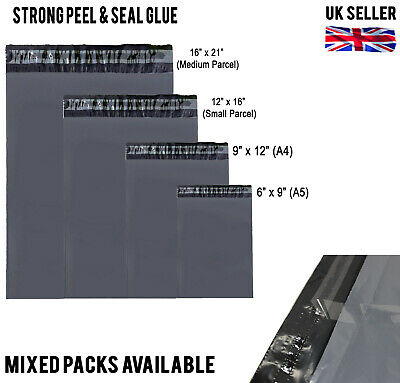 A5 A4 SMALL PARCEL NO WINDOW GREY MAILING BAGS POST STRONG SELF SEAL Mixed Packs