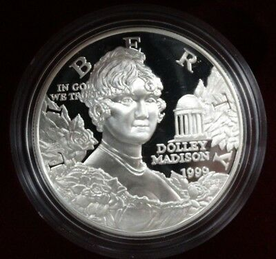Group Of Two Dolley Madison Commemorative Proof Silver Dollars
