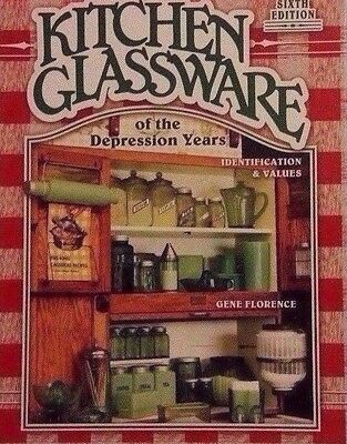 Antique Kitchen Glassware Price Guide Collector's Book Color Photos Hardback