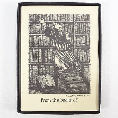 Antioch Bookplates Edward Gorey From The Books Of Includes 45 plates