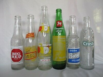Collection of Mixed Vintage Soda Pop Bottles 1(Found in late 1970s, early 1980s)