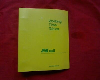 A.N. National Rail, Working Time Tables book, Wilmington Eurelia Naracoorte 1987