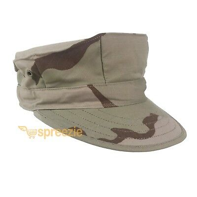 Camouflage Military Issue Hat Cap USMC Utility Desert Camo Ripstop US Army New