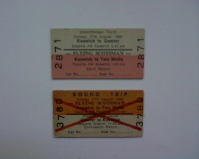 Flying Scotsman Railway tickets 1989 Keswick train locomotive S.A.R Steamranger