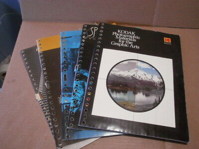 Lot of 5 Vintage - Kodak Data / Graphic Arts Books -Large Format, Special Effect