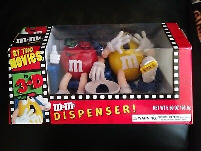 """NIB - M & M's Dispenser - """"AT THE MOVIES"""" - Official Limited Edition Collectible"""