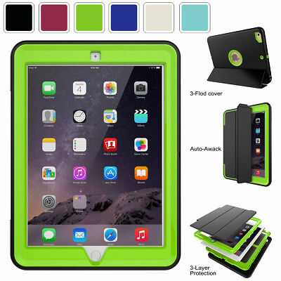 For Apple iPad New 9.7 2018 6th 5th Generation Hybrid 360° Protective Hard Case