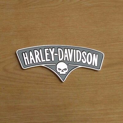 3D Metal Skull Letter Emblem / Badge For Harley Davidson Tank / Body