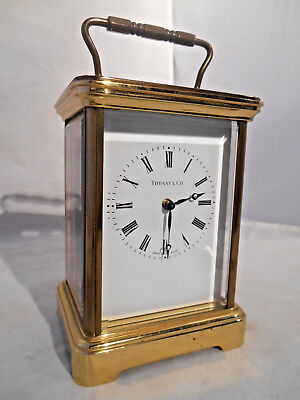 Carriage Mechanical 8 Day Clock for Tiffany & Co. Swiss Made 11 Jewels No. 1752