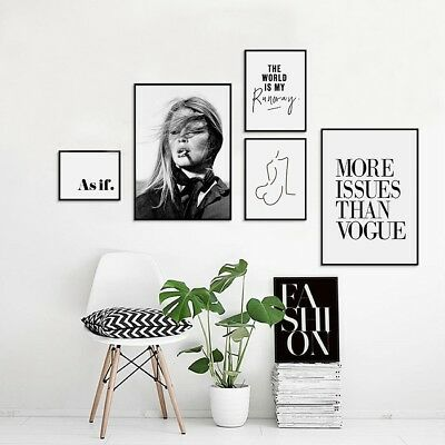 Trendy Girl Vogue Picture Nordic Canvas Print Fashion Wall Art Painting Decor