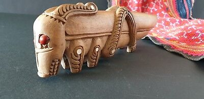 Old Papua New Guinea Trobriand Islands Carved Wooden Grasshopper …beautiful