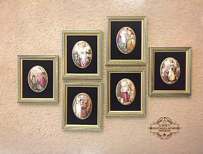 RARE Almost Antique Harleigh Staffordshire Wall Plaques Set Of 6