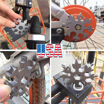 18 In1 Incredible Stainless Multi-tool Practical Manual Snowflake Shaped Tool