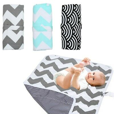 Infant Baby Nappy Bag Diaper Changing Cover Pad Foldable Urine Mat Waterproof UK