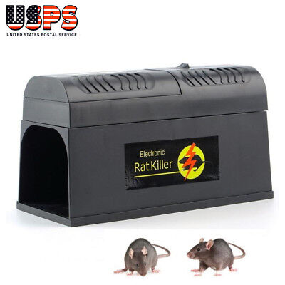 Electronic Mouse Mice Rat Zapper Rodent Trap Killer Pest Control Home Garden US
