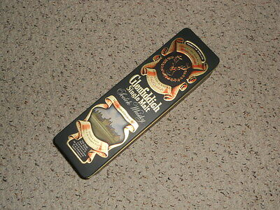 Glenfiddich Single Malt Scotch Whiskey bottle tin. nice graphics-great shape!!
