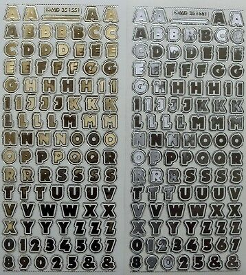 Embossed on Clear Uppercase & Numbers 12mm PEEL OFF STICKERS Number Capitals